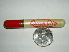 "Vtg Redilite Advertising Cigarette Lighter -Queen City Beer-Cumberland Md 3"" L"