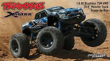 "Traxxas 1:6 X-Maxx 8S Brushless TSM 4WD Monster Truck RTR 29.8"" BLUE TRA770864T2"