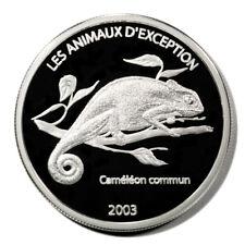 Democratic Republic of Congo Camelion 10 Francs 2003 Proof Silver Crown KM99.1