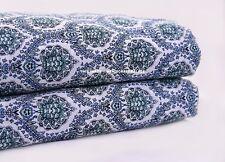 5 Yard Indian Running Garment Fabric Cotton Dress Material Block Print Floral