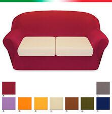 Copricuscino divano COTONE ELASTICIZZATO 3 misure copri cuscini sofà salotto