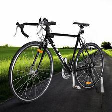 Black Shimano 700C 54cm Aluminum Road/Commuter Bike Racing Bicycle 21 Speed