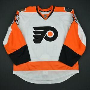 2016-17 Radel Fazleev Philadelphia Flyers Game Used Worn Reebok Hockey Jersey