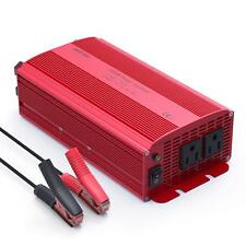 1000W Power Inverter Dual AC Outlets 12V to 110V 120V Car Boat AC Adapter ETL