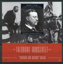 Palau 2012 MNH Famous Speeches Theodore Roosevelt 1v S/S US Presidents Stamps