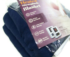 Biddeford Electric Warming Micro Plush Dark Navy Blue King Blanket 2 Controls