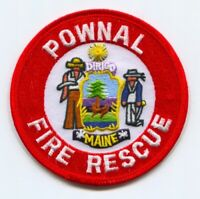 Pownal Fire Rescue Department Patch Maine ME v2