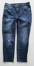 J Crew Vintage Straight High Rise Crop Distressed Jean, Dark - Size 31