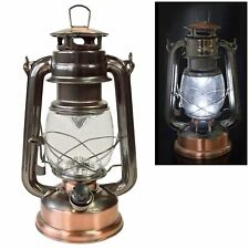 Voche Traditional 15 LED Hurricane Miners Lantern Light Lamp - Antique Style and