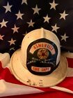 Vintage Asheville Fire Chief / Fire Helmet /Cairns and Brother/ w Leather shield