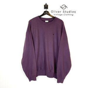 Vintage Champion Logo Sweatshirt XXL Purple