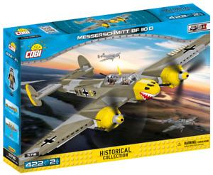 Cobi 5716 Messerschmitt BF 110 D Flugzeug Bausatz 422 Teile 2 Figuren