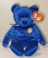 Ty Beanie Baby - CLUBBY the Royal Blue Bear (8.5 Inch) MINT with MINT TAGS