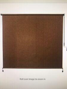 Cordless Exterior Roller Shade Fabric 6X6feet UV Block Sun Protection Child Safe