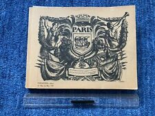 Beautiful Illustrated Book Paris With Pictures From Vintage Cars/Buildings Etc