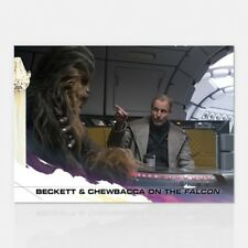 2018 TOPPS NOW COUNTDOWN TO SOLO: A STAR WARS STORY #11 BECKETT & CHEWBACCA