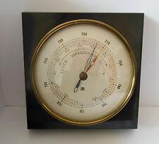 Barometer Wetterstation in Holz Luftdruckmesser Wandbarometer retro quadratisch