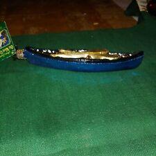 Old World Glass Canoe