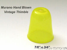 Yellow Murano Glass Thimble — one only
