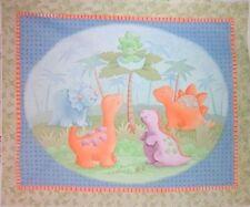 CUTE AS A SAURUS baby quilt top cotton fabric DINOSAUR FABRIC PANEL BTP NEW