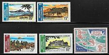 COMORO ISL. Sc C32-6 NH ISSUE OF 1971 - MAPS & LOCAL PLACES