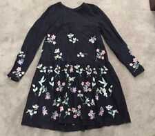 FOREVER NEW Embroidered Floral Tunic Dress Boho Sz 8 #12014