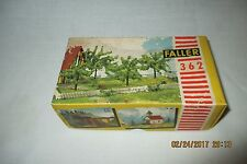 Faller 362 HO Scale  Green Trees and plant - 4 pcs. w/Original box