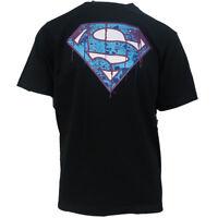 New Era Men's DC Comics Dark Superman Logo S/S Tee (Medium)