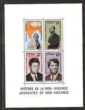 Cameroun S:# C115a Apollo 11 Overprint (Type I) Ghandi/King/Kennedys. Souvenir