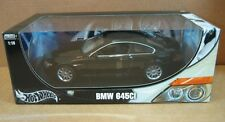 "Hot Wheels BMW 645Ci Black Car 10"" Long Die Cast 1:18 Scale! New in Box # C7528"