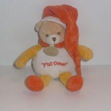 Doudou Ours Doudou et Compagnie - P'tit Doux - Bonnet orange