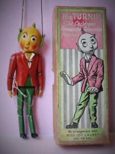 LUNTOY VINTAGE 1950s BOXED MR TURNIP PUPPET WHIRLIGIG BBC T.V.CHARACTER