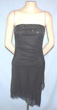 Strapless Fully Lined Bias Cut Hem Little Black Dress Size Small (5/6 Estimate)