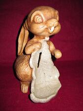 Antique Bunny Bank Pipe Stand Holder Razor blade Thumper Bambi? Disney? Rare