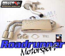 """MILLTEK SSXVW279 GOLF GTI MK5 Sistema di scarico 3"""" Race Cat Indietro Consonanza polacco"""