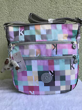 New $114 Kipling Zelenka K Squared Seafoam Shoulder Hobo CrossBody Bag