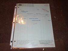 1966 SHELBY AMERICAN INVOICE TO PEC MOBILE IN ILLINOIS CREDIT FOR UNCLAIMED CARB