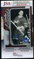 Johnny Bower JSA Coa Hand Signed 2012 OPC Autograph