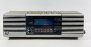 GE General Electric Vintage Clock Radio 7-4945A Woodgrain Finish AM FM Stereo