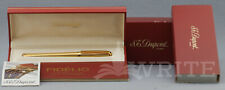 NEW FOUNTAIN PEN S.T. DUPONT FIDELIO GOLD PLATED REF. 451074 NIB 14kt F COMPLETE