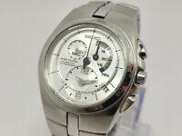 Men's Seiko Arctura 7L22 0AA0 Kinetic Chronograph Wristwatch 42mm Mint