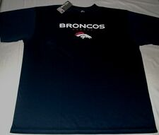 Denver Broncos Crew Neck Synthetic T-shirt 2Xl Crew Neck Navy Majestic Nfl