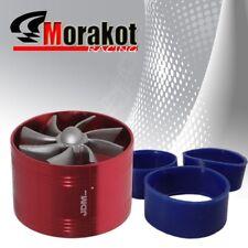 "3"" Tornado Turbonator Intake Single Fan Gas Fuel Saver Supercharger Red 3-6 HP"