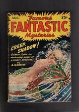 Famous Fantastic Mysteries August 1942 Virgil Finlay Cover Pulp GD/VG