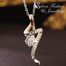 18K Yellow Gold Plated Simulated Diamond Stylish Lightning Flower Necklace
