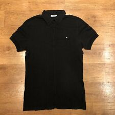 "J Lindeberg Polo Shirt Black Medium 38"" Chest"