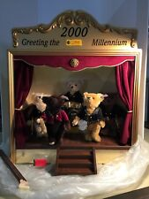 Steiff Teddy Bear 2000 Millenium Dream Band LE Large Music Box Display