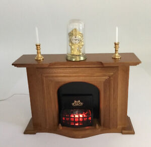 Dolls House Light Up Fireplace With Ornaments