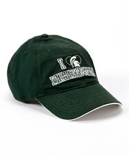 I Love 'Michigan State' Spartans Green Adjustable Baseball Hat NWT