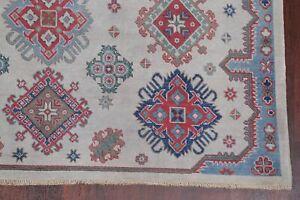 LIGHT GRAY Super Kazak Room Size Area Rug Hand-Knotted Oriental Wool Carpet 6x9